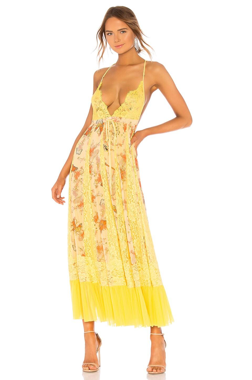 HOT AS HELL Ill Take U Farrer Dress in Yellow