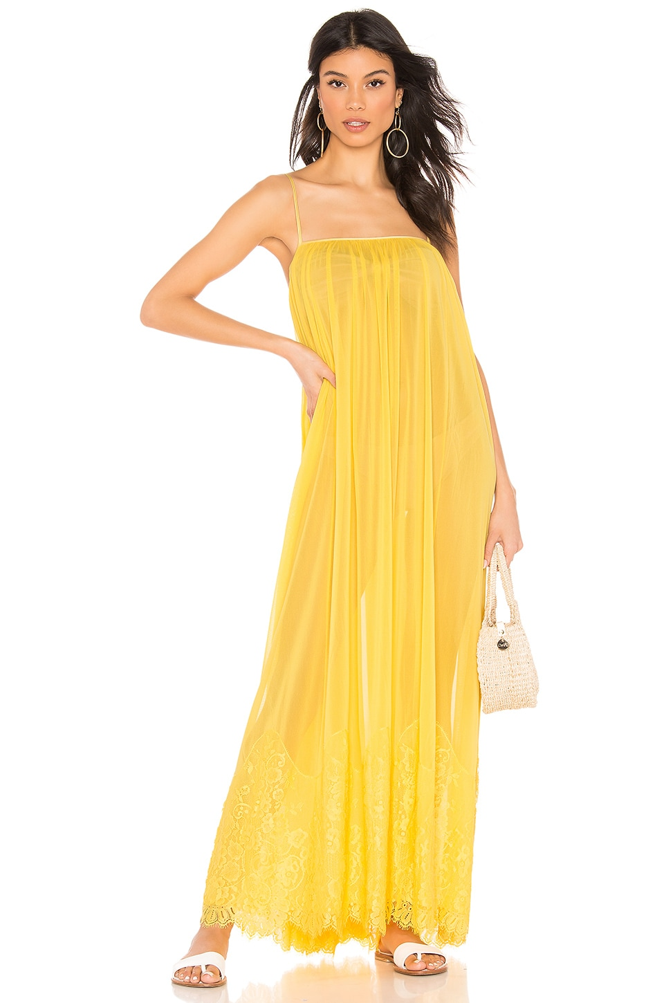 HAH Mad Maxi Dress in Lemon Drop