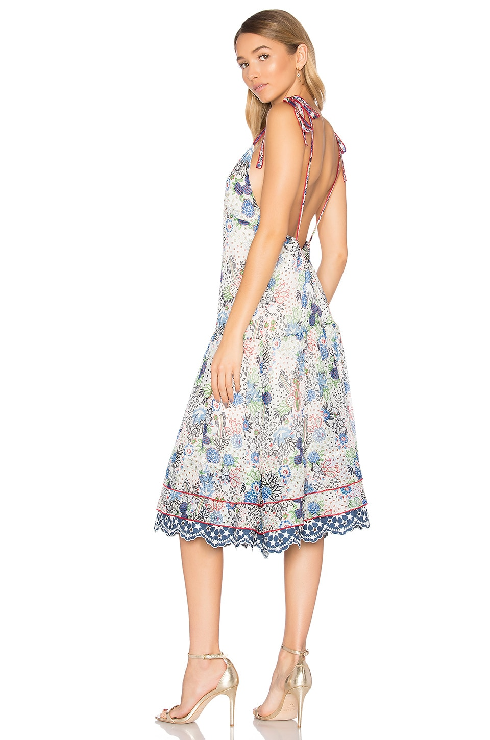 Cactus Print Midi Slip Dress by Hilfiger Collection