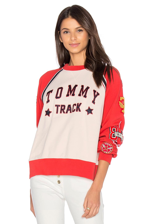Track & Field Raglan Sweatshirt by Hilfiger Collection