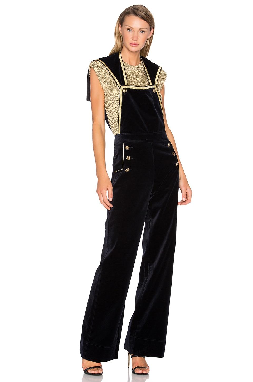 Velvet Marine Jumpsuit by Hilfiger Collection