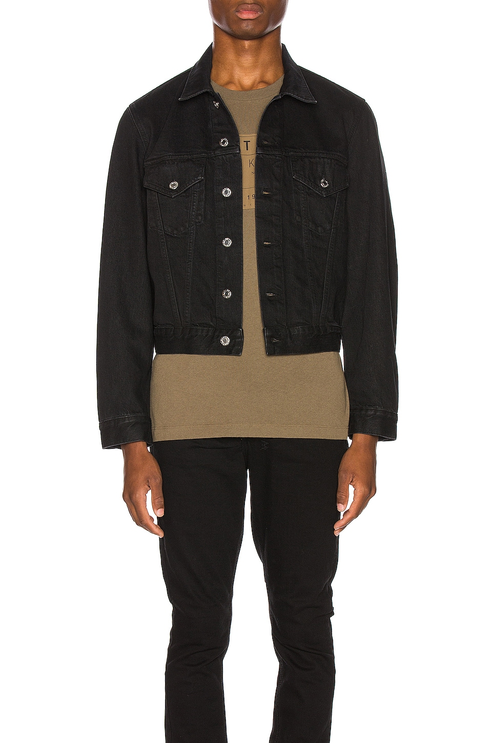 Helmut Lang Masc Trucker Matt Jacket in Black