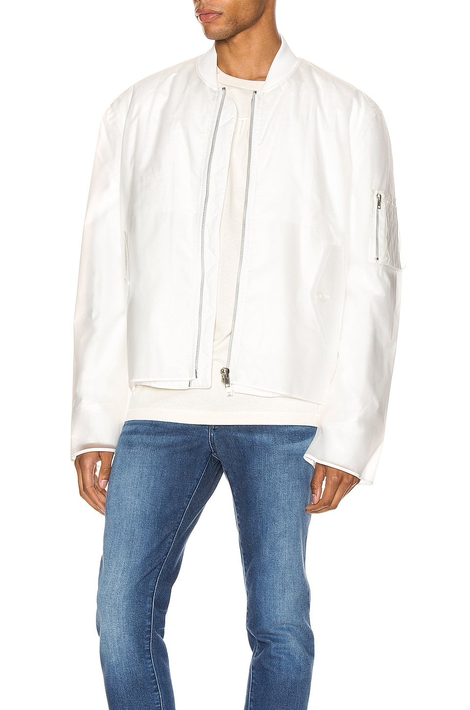 Helmut Lang 투명 보머자켓 in Clear