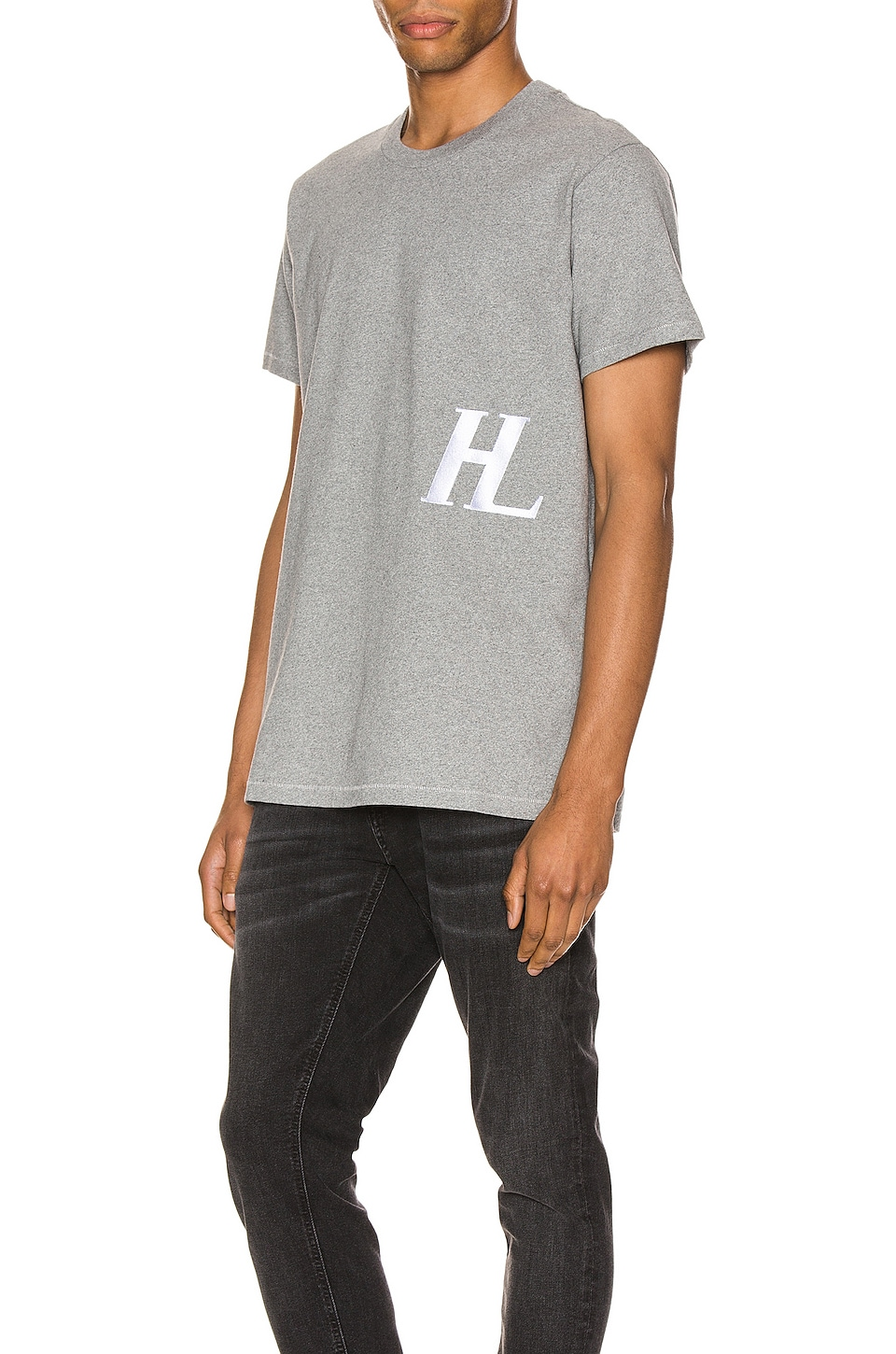 Helmut Lang HL Logo Tee in Precision Heather