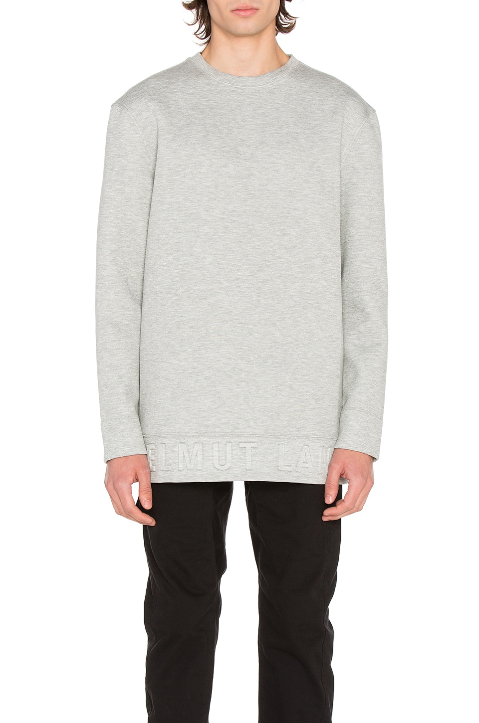 Photo of Box Fit 3D L/S Pullover by Helmut Lang men clothes