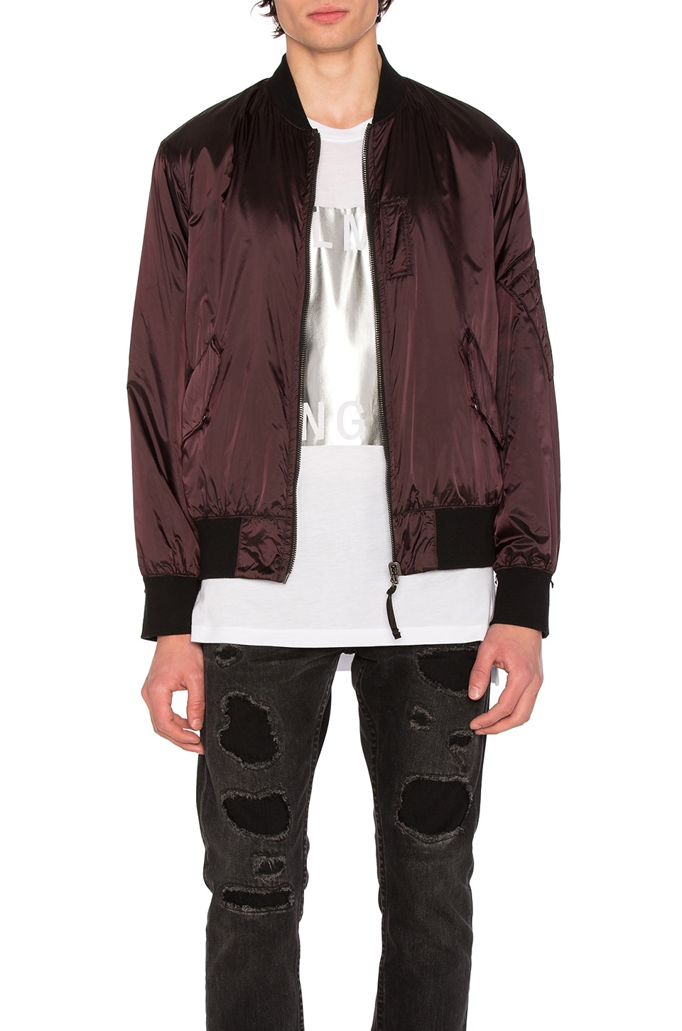 Photo of Reflective Nylon Bomber by Helmut Lang men clothes