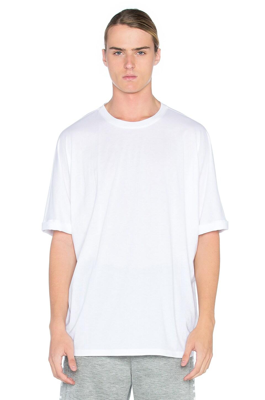 Helmut Lang Oversized Uni Sleeve Tee in Optic White