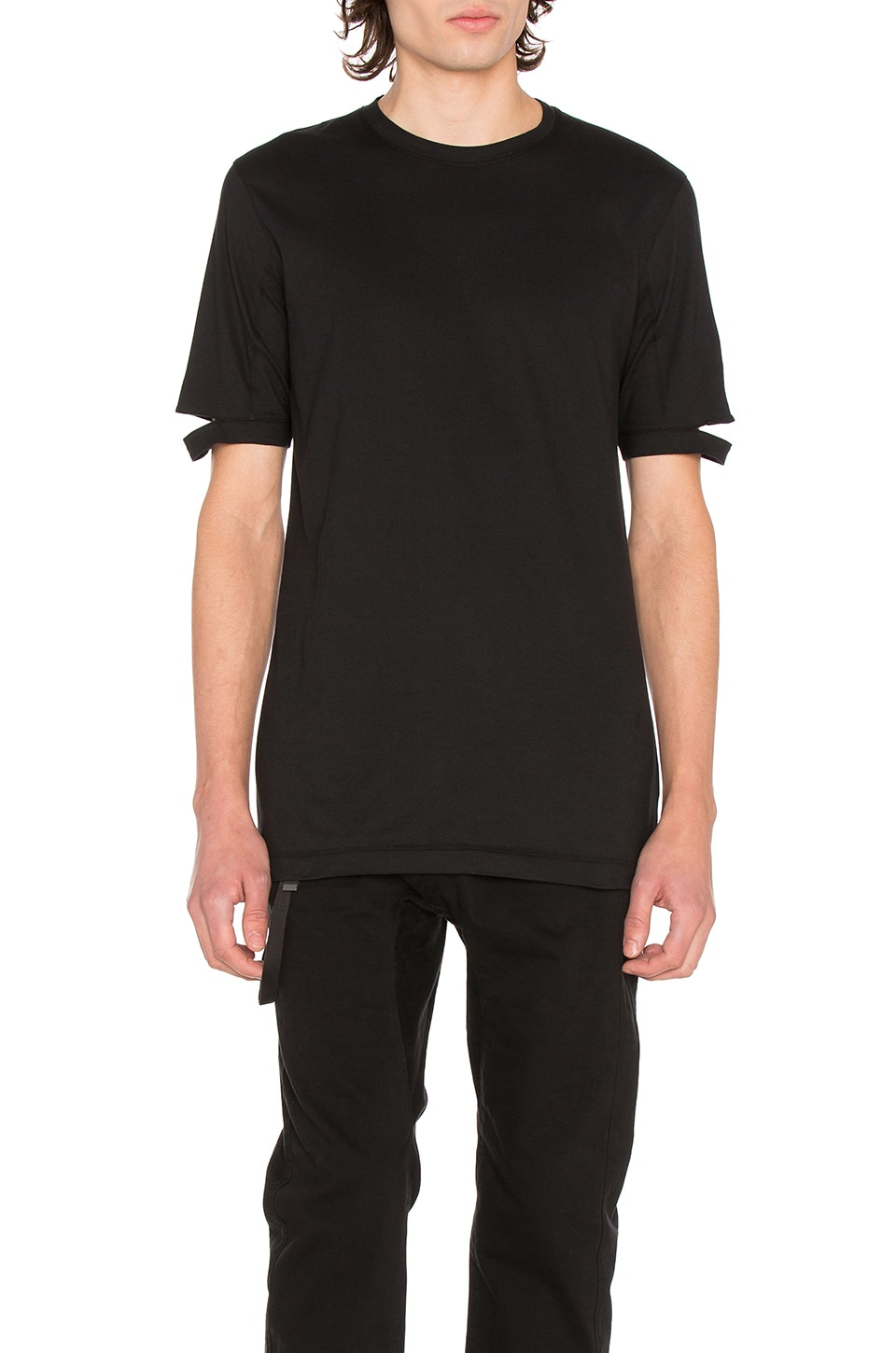 Standard Fit Cut Hem Tee by Helmut Lang