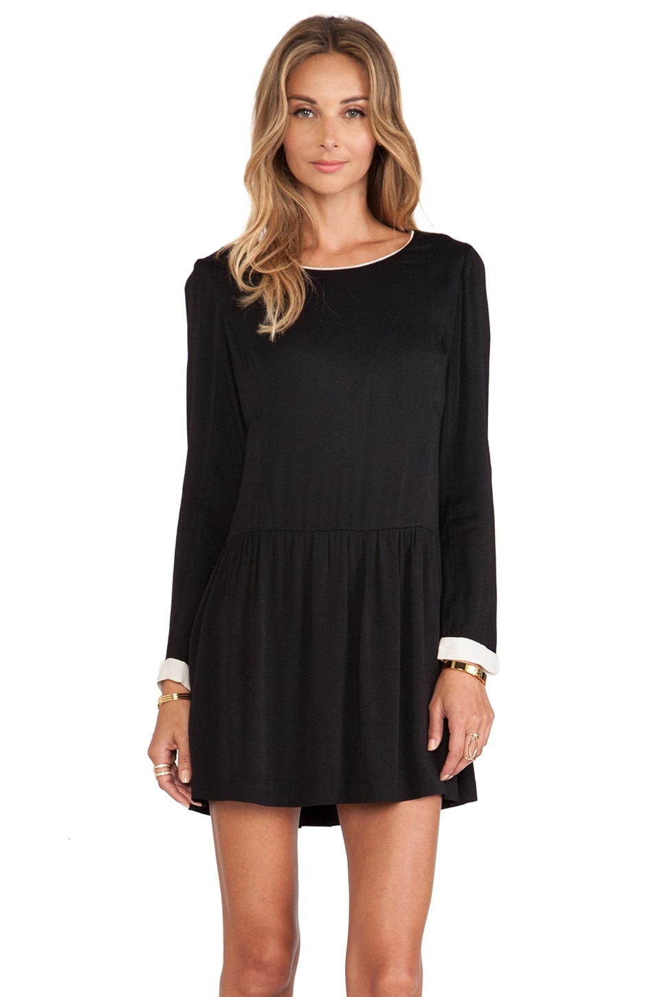 harlyn The Etienne Mini Dress in Black