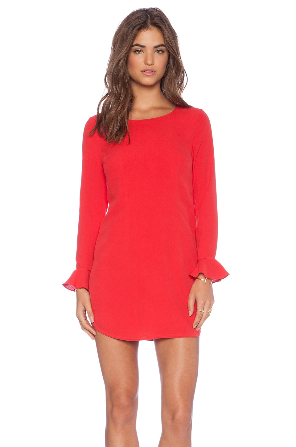 harlyn Button Back Shift Dress in Poppy