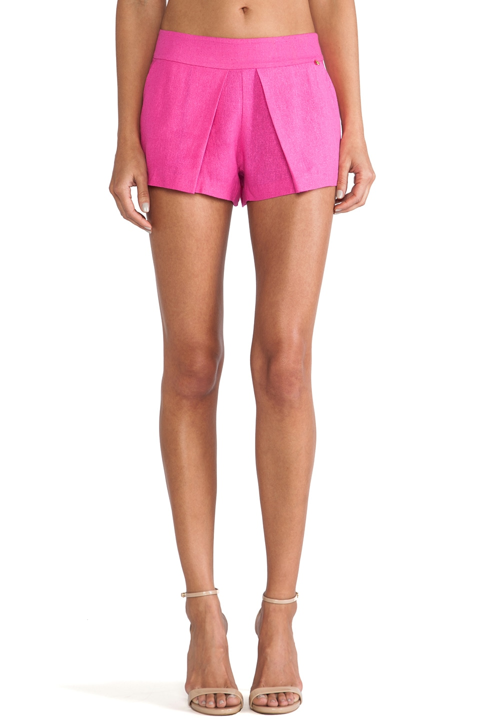 harlyn Pleated Short in Hot Pink
