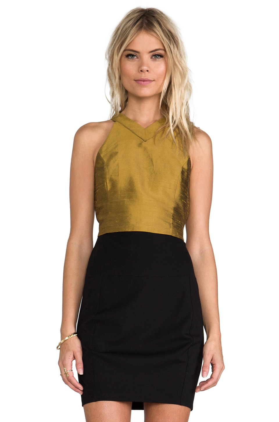 harlyn Cut Out Crop Top en Gold