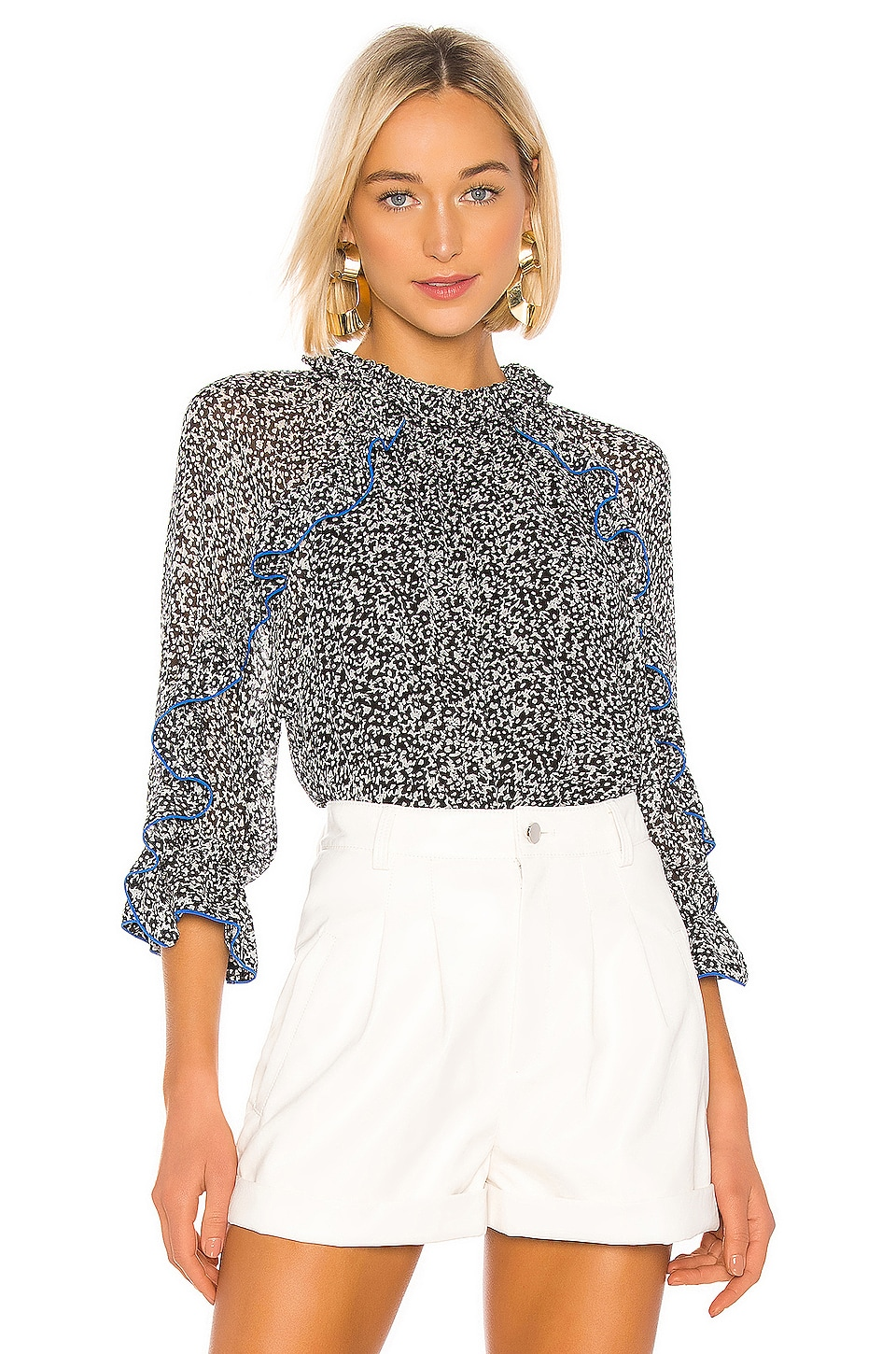 Hofmann Copenhagen Julia Blouse in Black Print