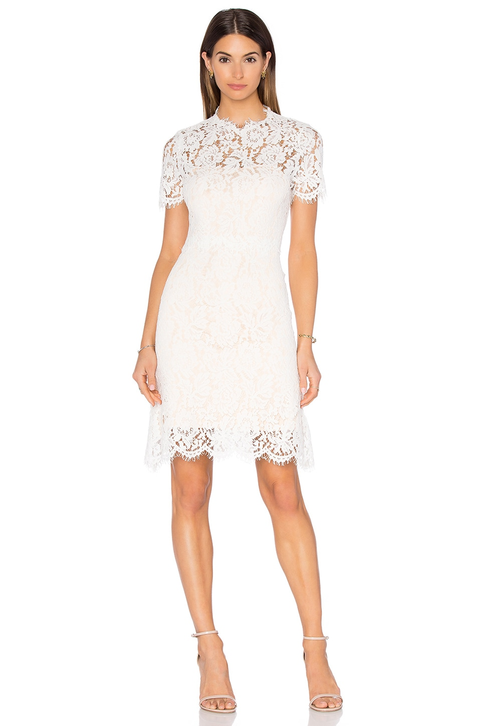 homebodii Allegra Lace Dress in White
