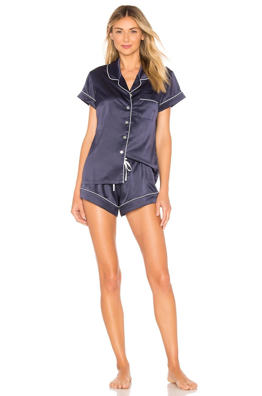 39b3458325 Homebodii Short Piping Pyjama Set In Navy