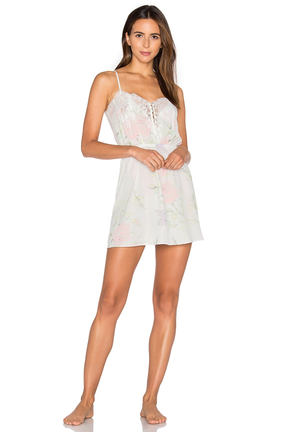 homebodii Sophia Lace Nightie in Floral