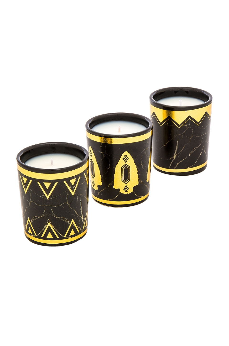House of Harlow 1960 House of Harlow Set Of 3 Candle Gift Set in Black Howlite