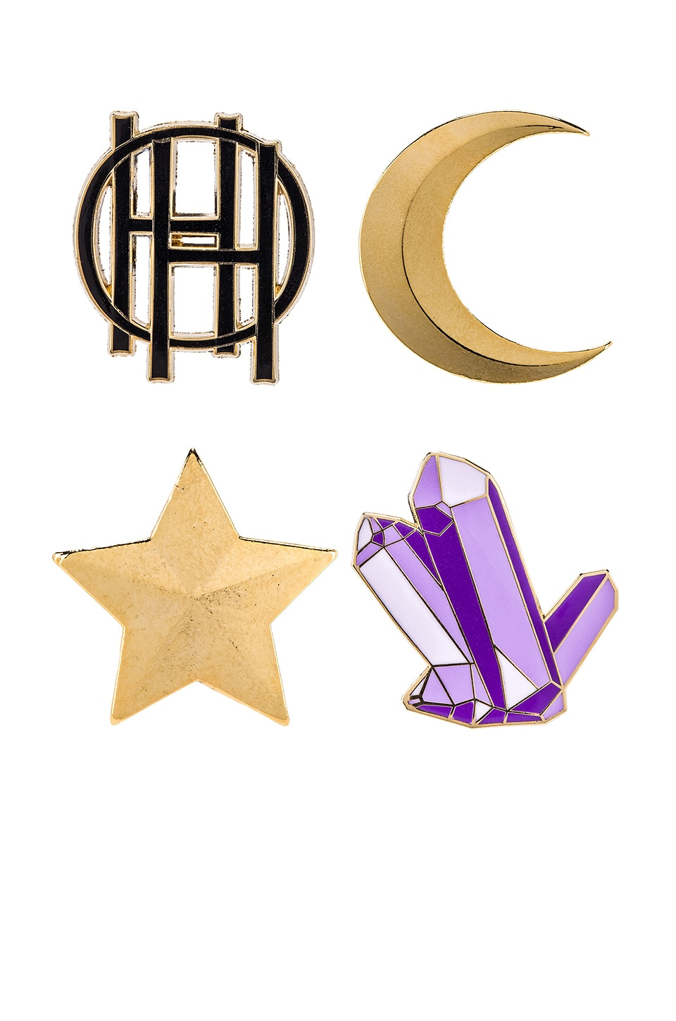House of Harlow 1960 X PINTRILL Pin Set in Gold
