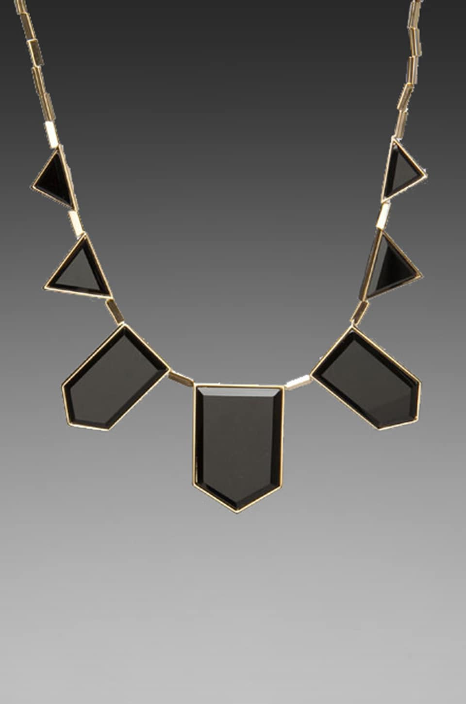 House of Harlow 1960 House of Harlow Black Resin Necklace