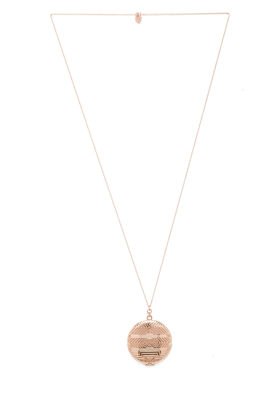 House of Harlow 1960 House of Harlow REVOLVE Exclusive Medallion Locket Necklace in Rose Gold