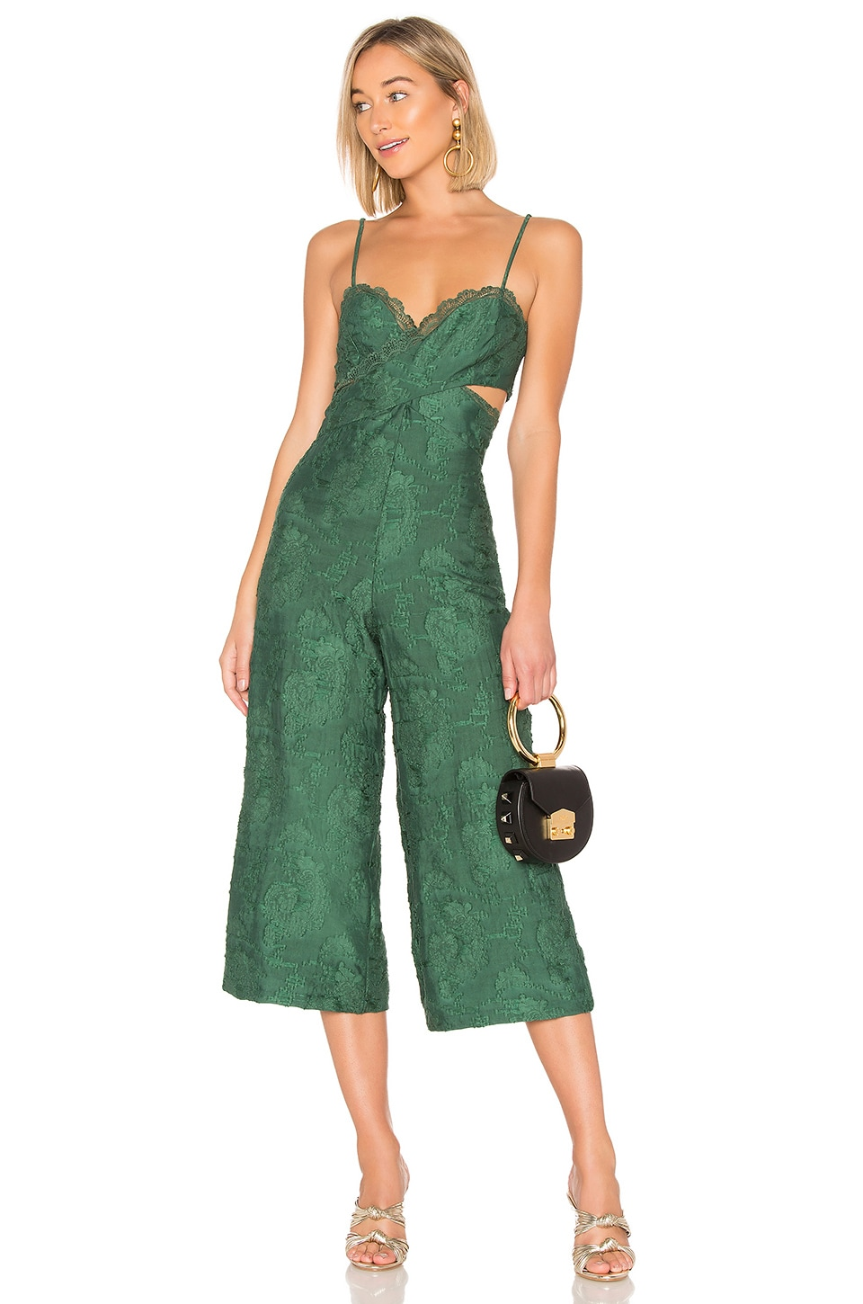 House of Harlow 1960 x REVOLVE Joelle Jumpsuit in Emerald Green