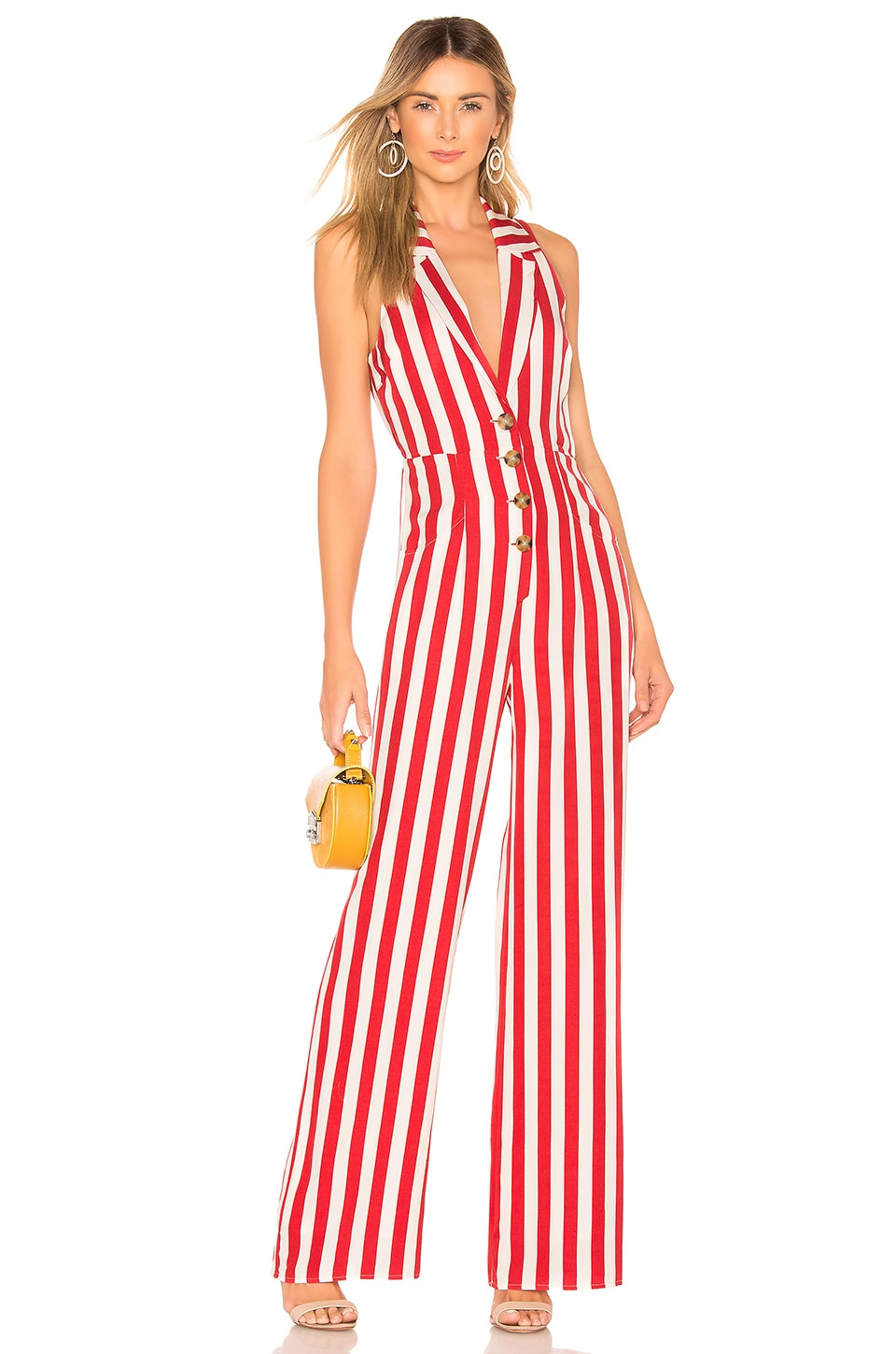 House of Harlow 1960 X REVOLVE Marjorie Jumpsuit in Red & White Stripe