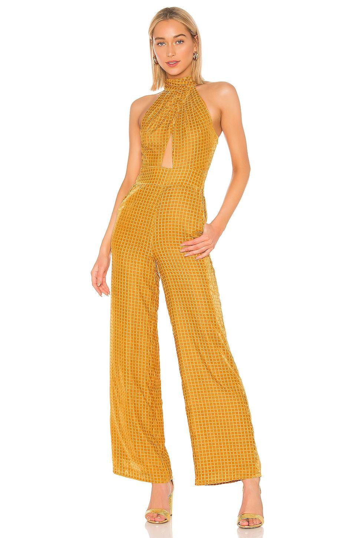 House of Harlow 1960 X REVOLVE Karen Jumpsuit in Golden Yellow