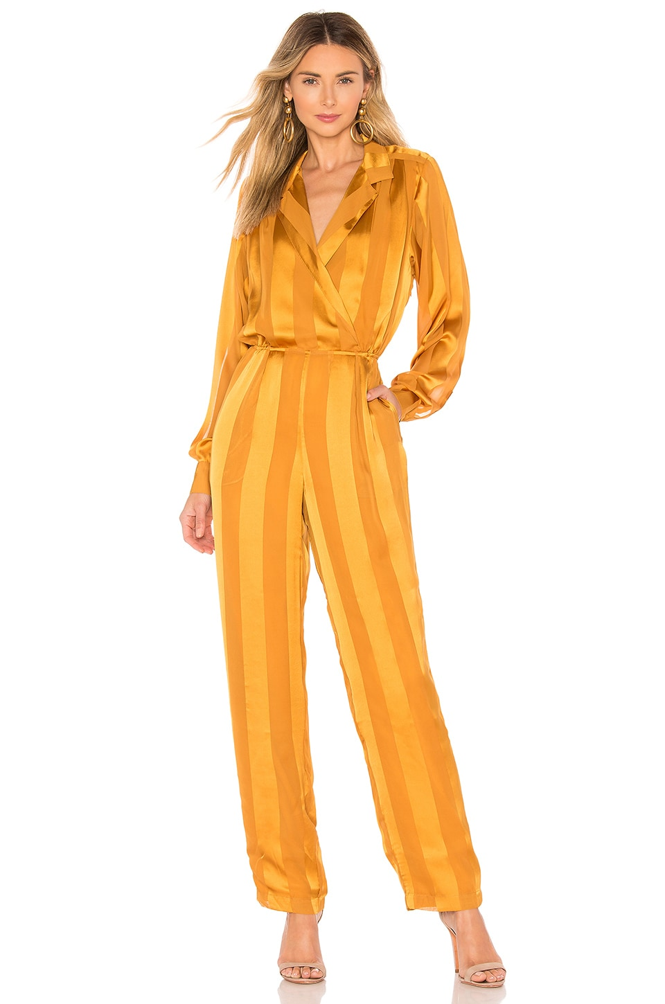 House of Harlow 1960 X REVOLVE Margot Jumpsuit in Inca Gold