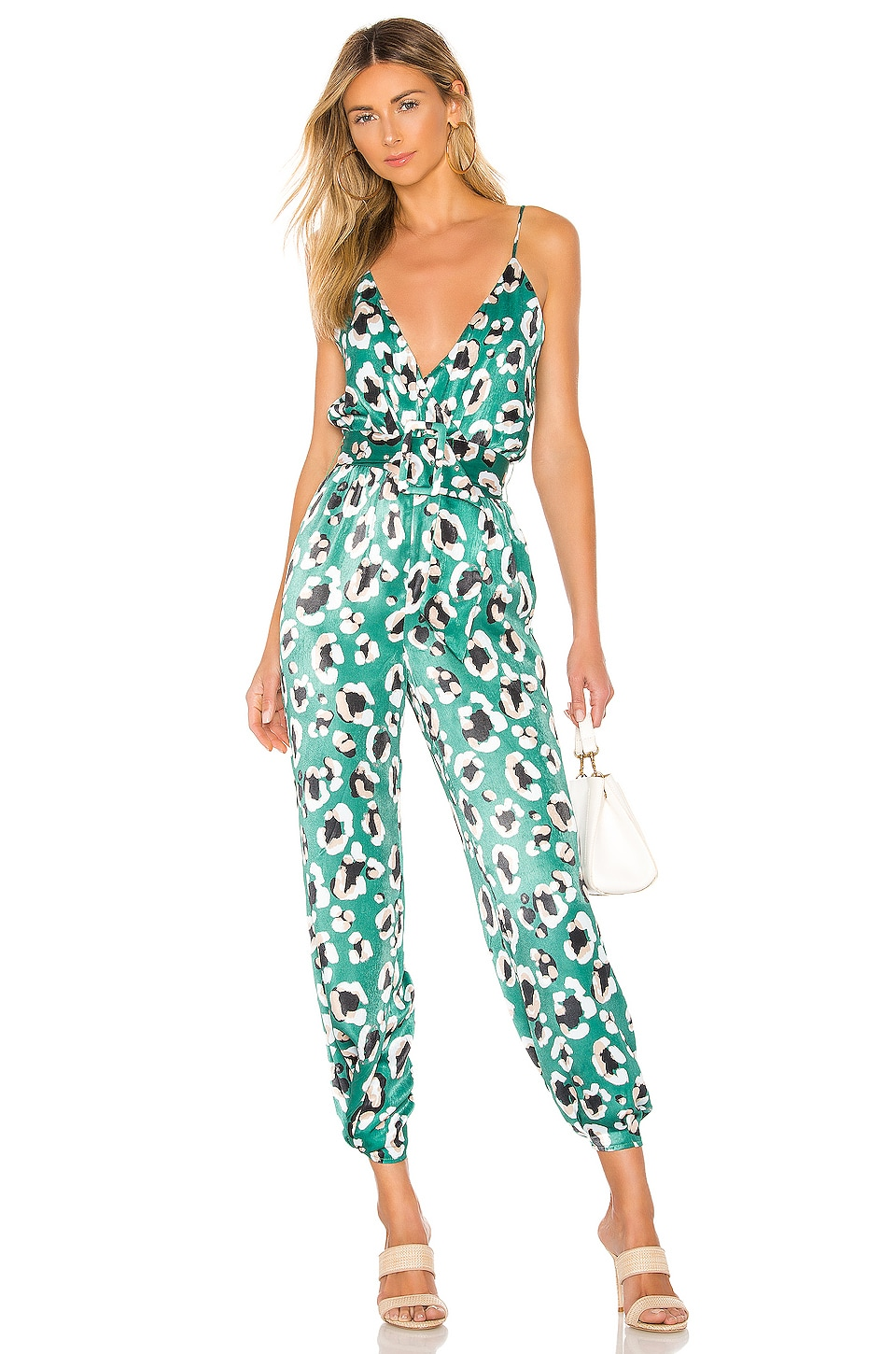 House of Harlow 1960 x REVOLVE Rudy Jumpsuit in Green Leopard