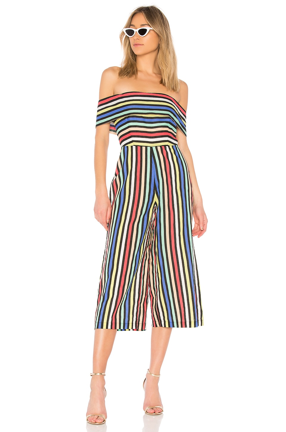 House of Harlow 1960 x REVOLVE Hugh Jumpsuit in Colmar Stripe
