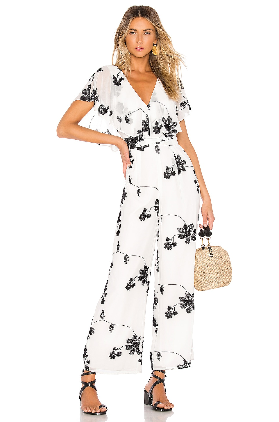 House of Harlow 1960 x REVOLVE Yasmine Jumpsuit in White & Black