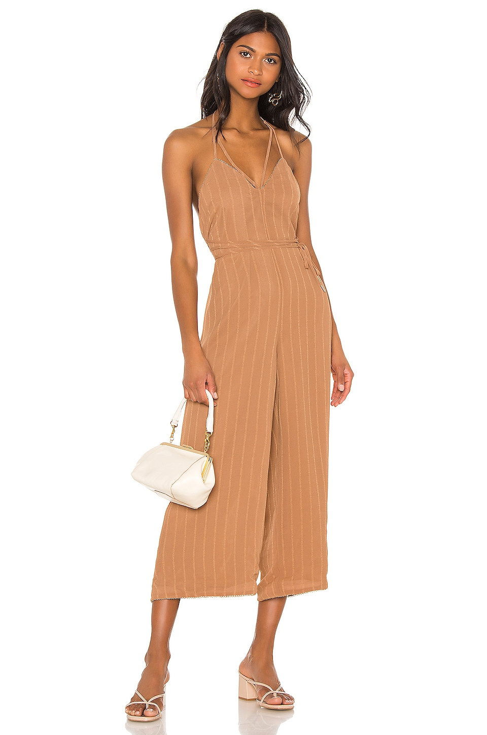 House of Harlow 1960 X REVOLVE Paola Jumpsuit in Tawny Brown