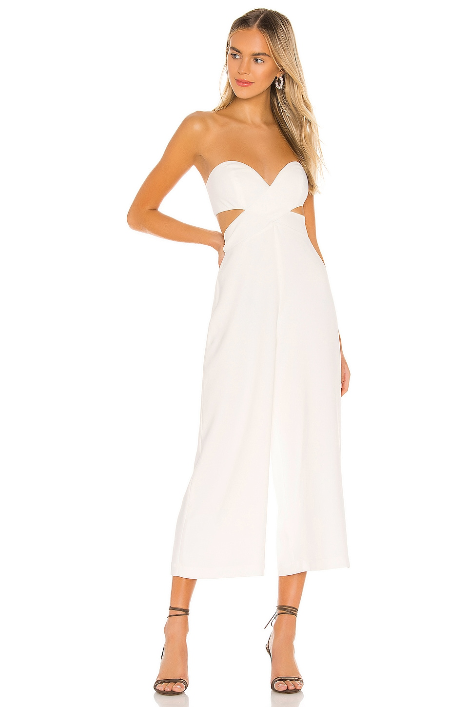 House of Harlow 1960 Joelle Jumpsuit in Ivory