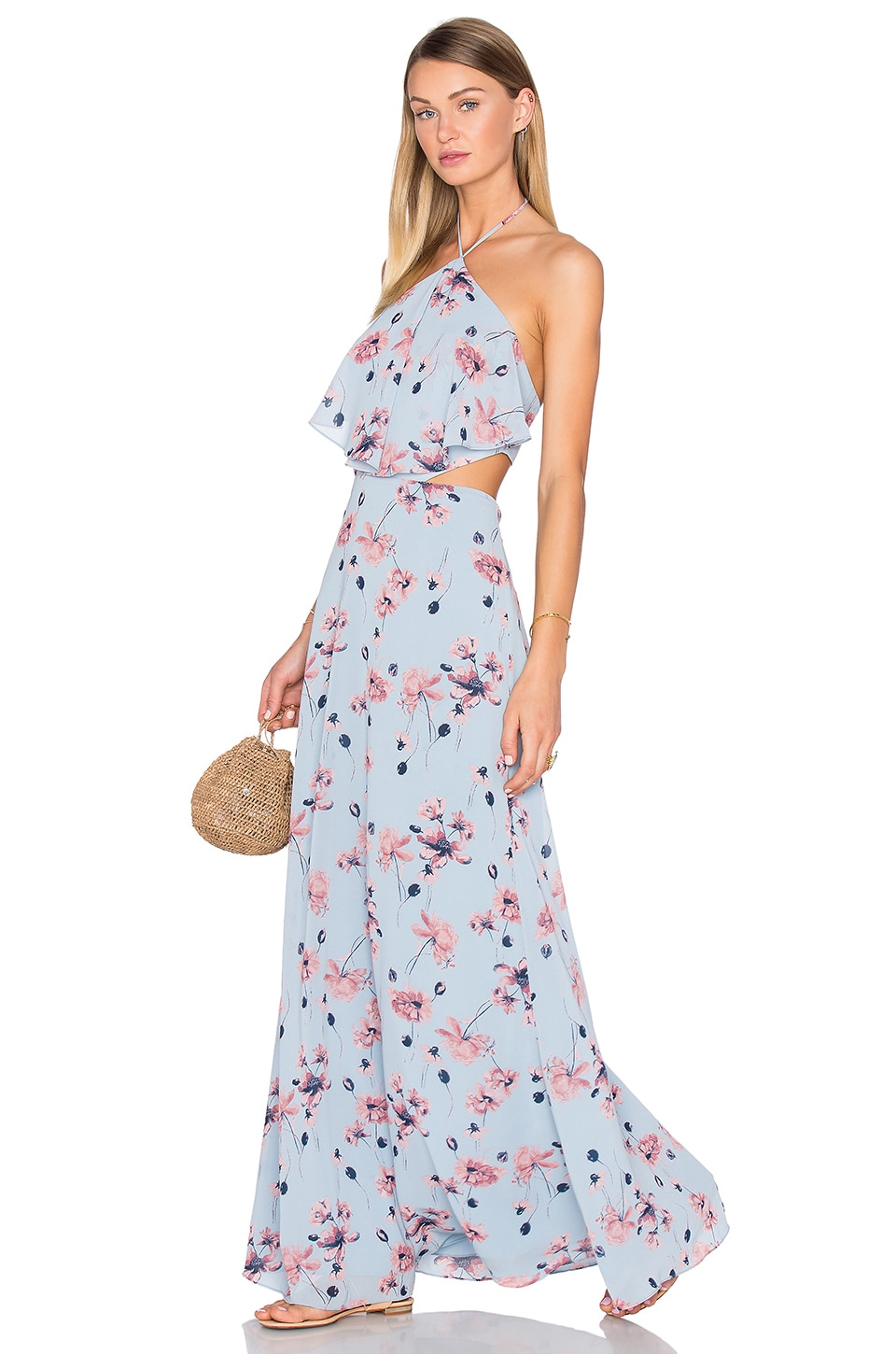 House of Harlow 1960 x REVOLVE Zoe Halter Maxi in Blue Floral