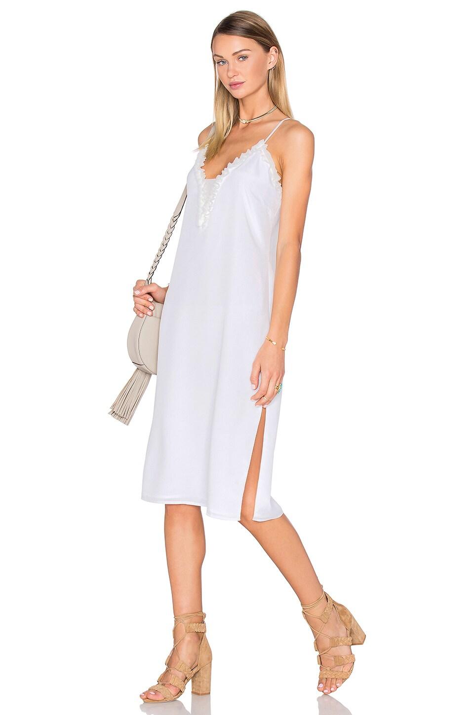 House of Harlow 1960 x REVOLVE Stella Deep V Slip Dress in Ivory