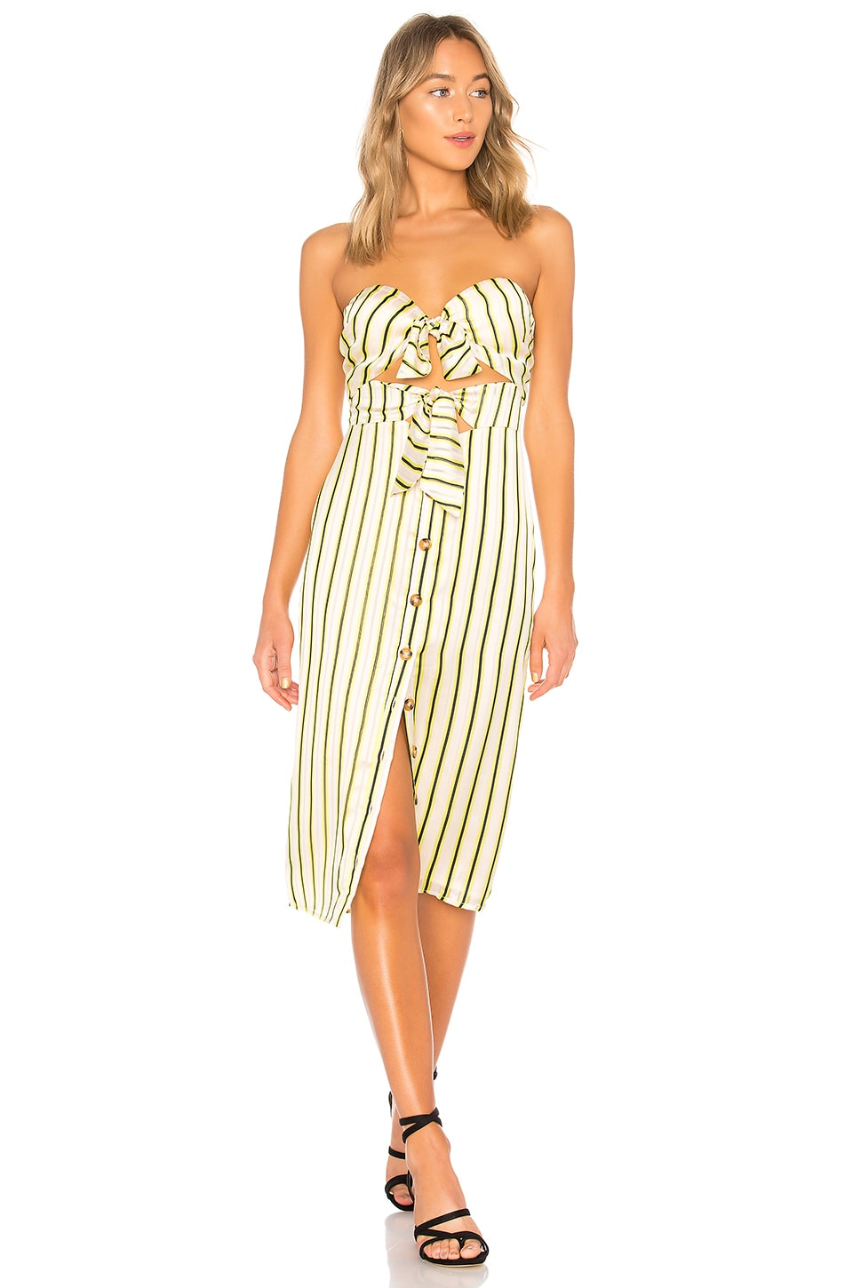 House of Harlow 1960 x REVOLVE Colette Dress in Yellow Pop Stripe