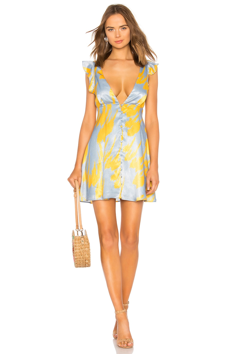 House of Harlow 1960 x REVOLVE Viona Dress in Blue Feather
