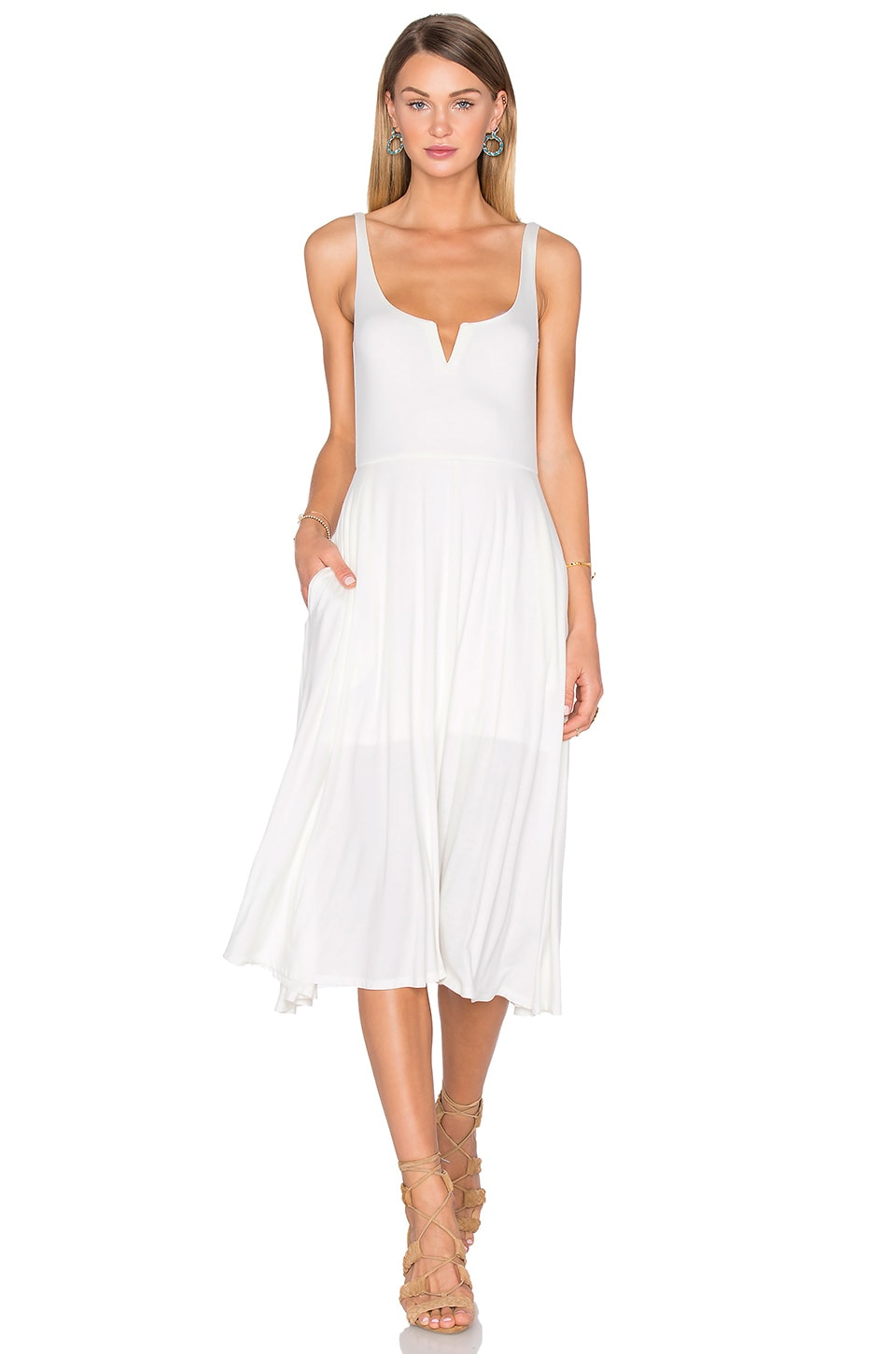 House of Harlow 1960 x REVOLVE Ella Tank Dress in Ivory
