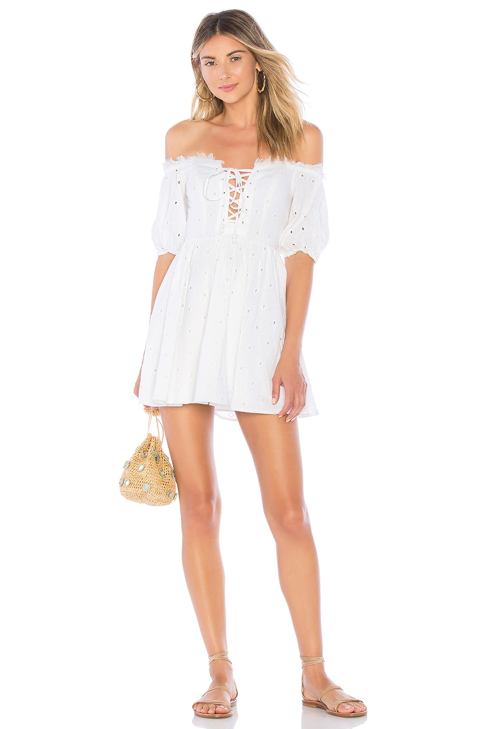 House of Harlow 1960 x REVOLVE Frans Dress in White