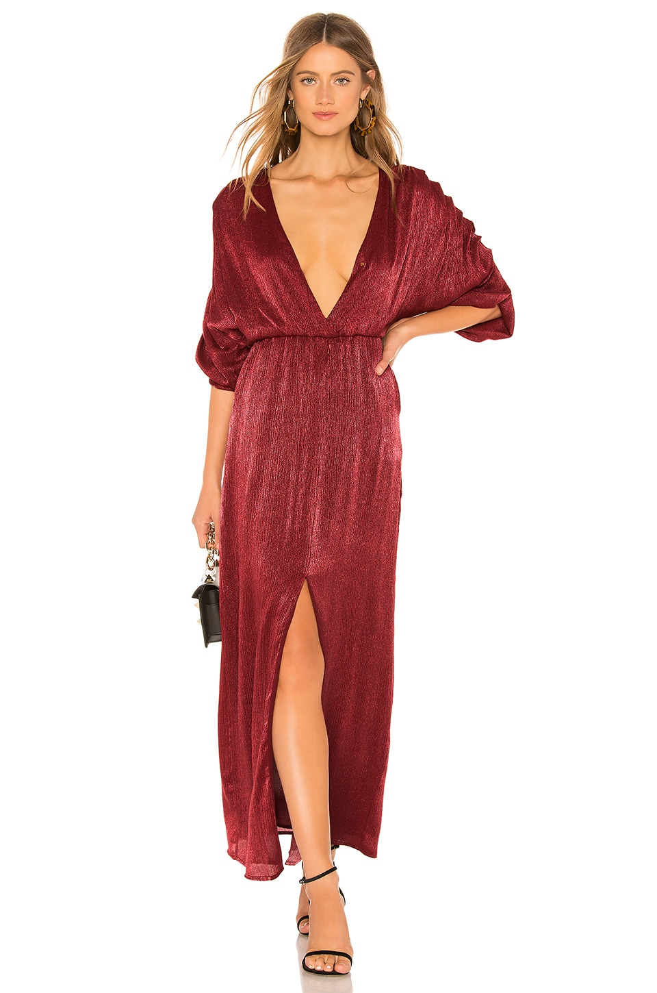 House of Harlow 1960 x REVOLVE Rhea Dress in Raspberry Red
