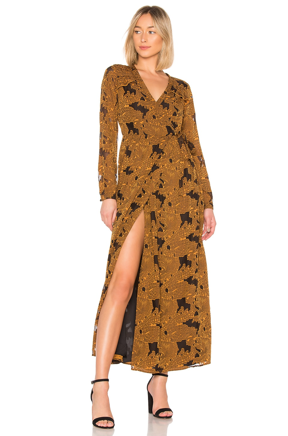 House of Harlow 1960 x REVOLVE Margareta Dress in Mustard
