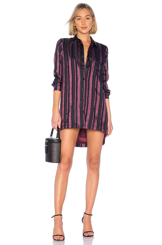 House of Harlow 1960 x REVOLVE Devina Dress in Purple & Noir Stripe