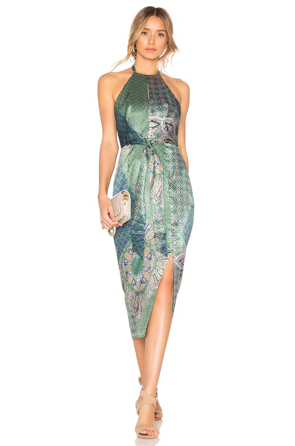 House of Harlow 1960 x REVOLVE Milo Dress in Moss Green Patchwork