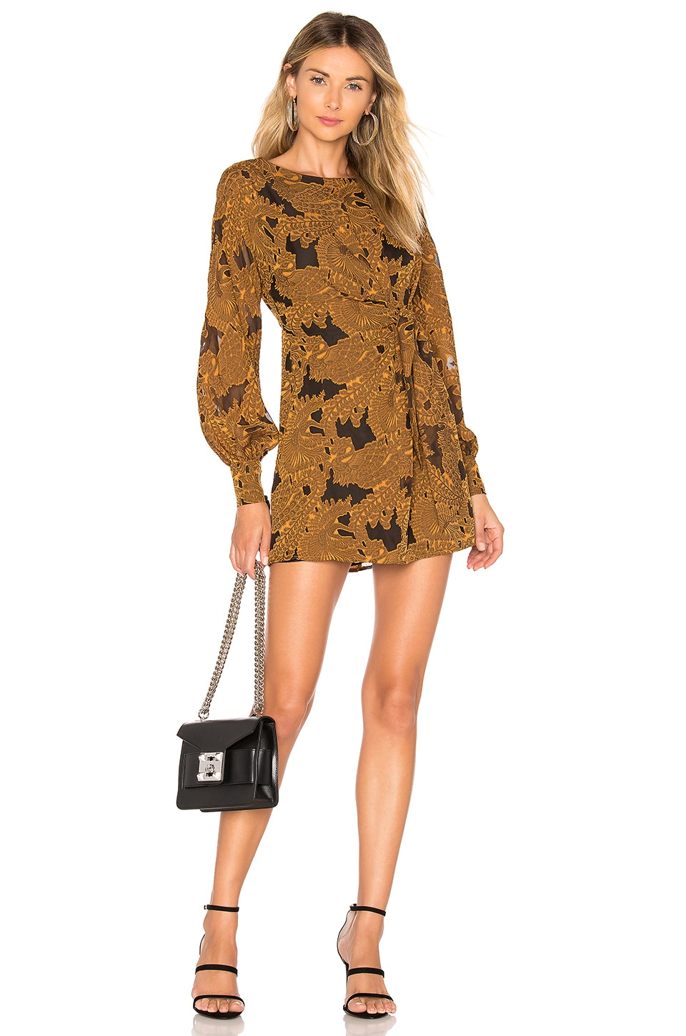 House of Harlow 1960 x REVOLVE Clark Dress in Mustard
