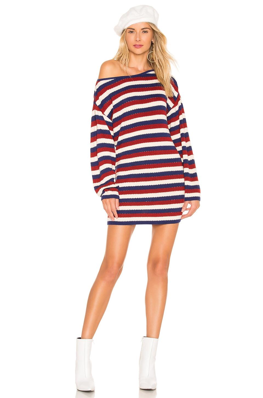 House of Harlow 1960 x REVOLVE Echo Sweater Dress in Multi Stripe