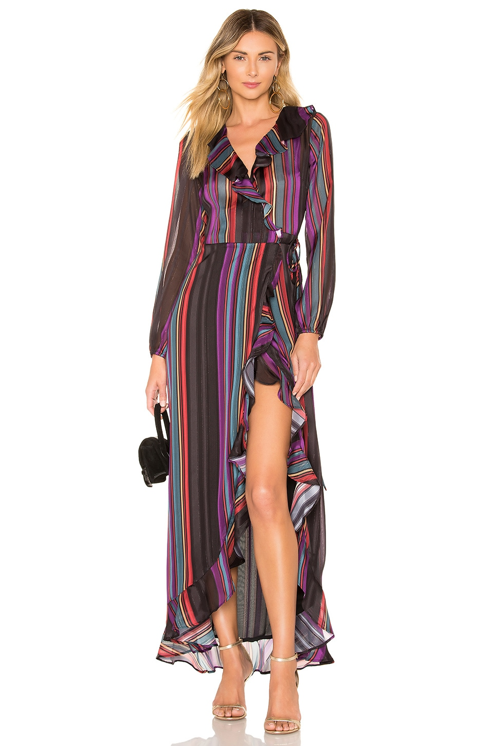 House of Harlow 1960 x REVOLVE Lafayette Dress in Rainbow Stripe