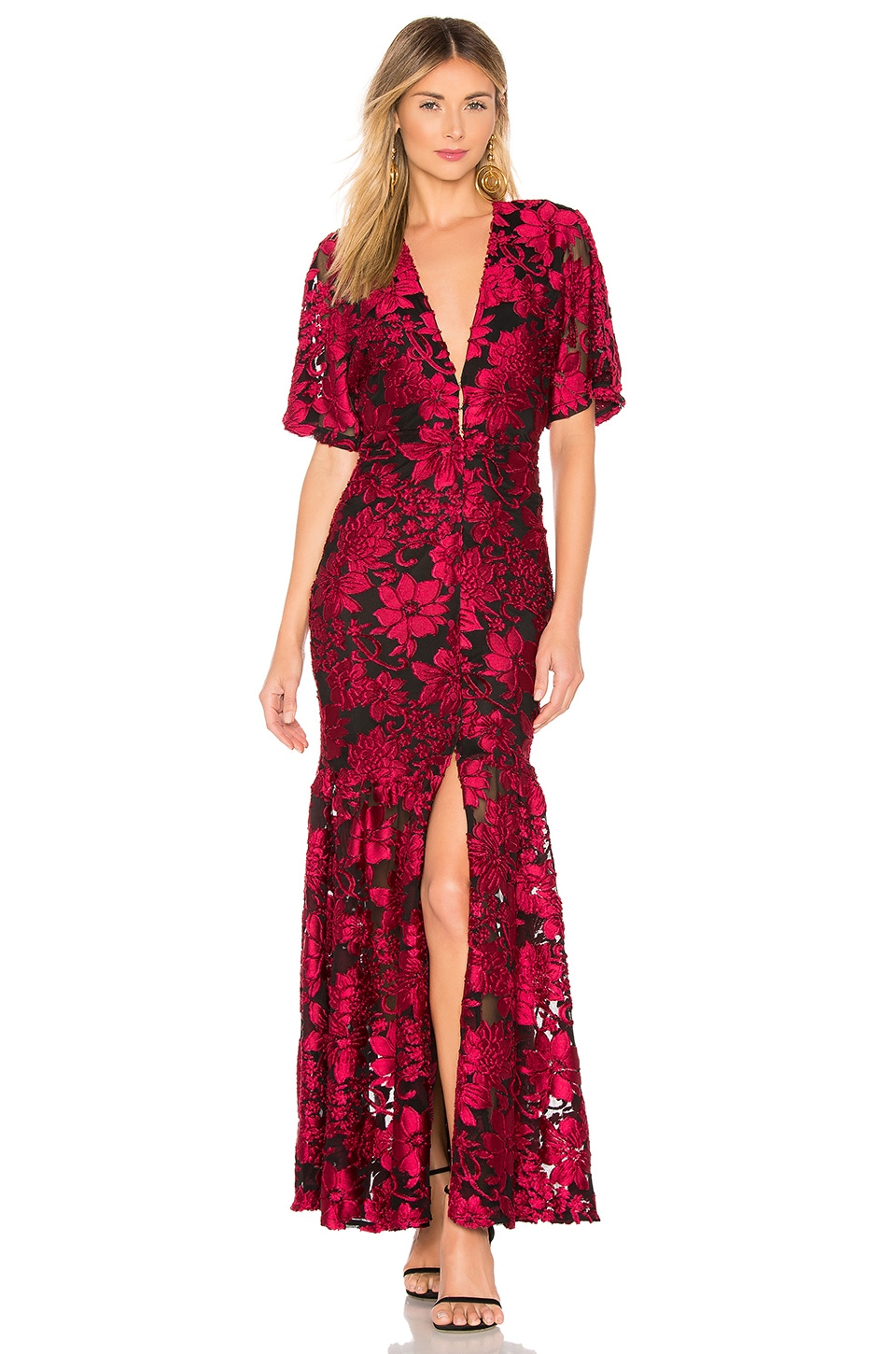 House of Harlow 1960 x REVOLVE Savana Dress in Black & Red