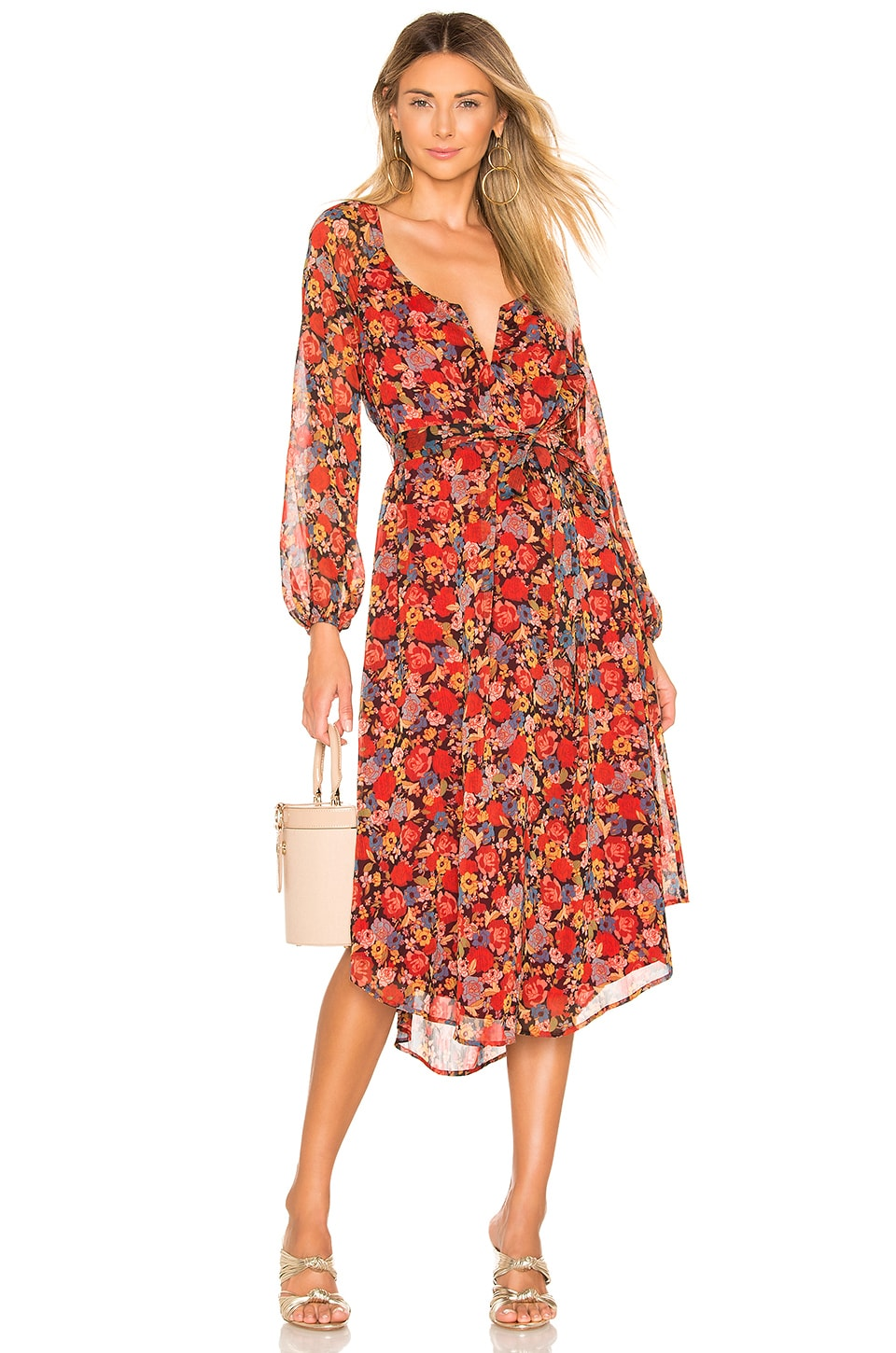 House of Harlow 1960 X REVOLVE Noa Dress in Red Mixed Floral