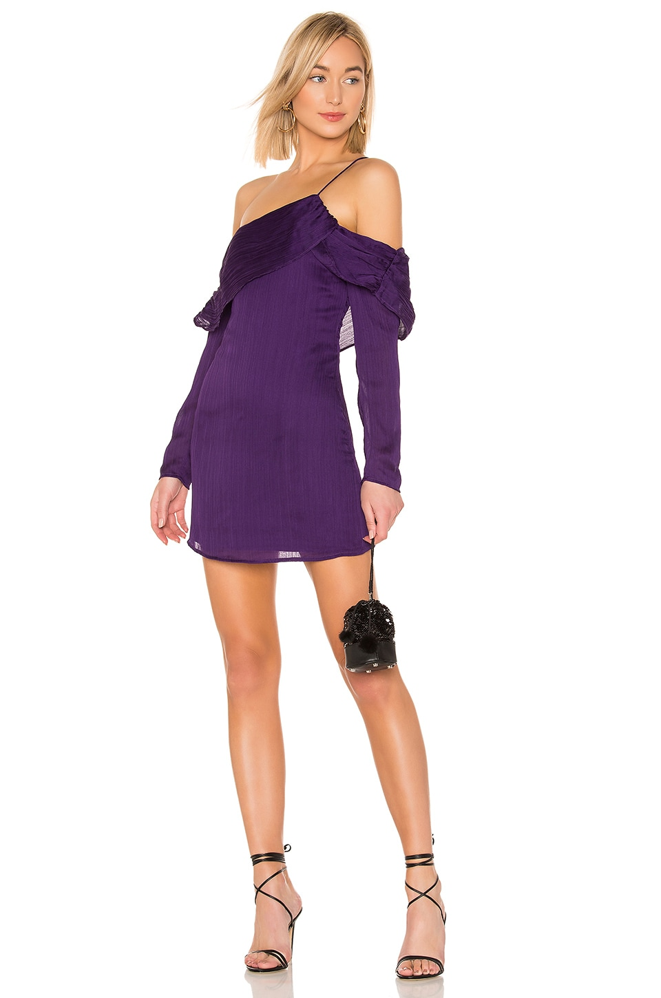 House of Harlow 1960 ROBE MANCHES LONGUES LILLYANN