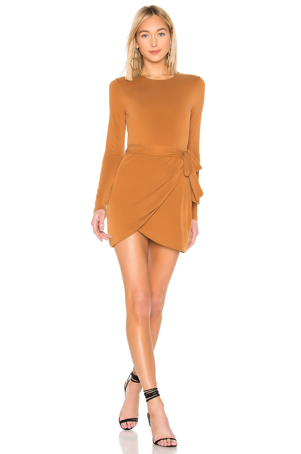House of Harlow 1960 x REVOLVE Rya Long Sleeve Dress in Spice Brown